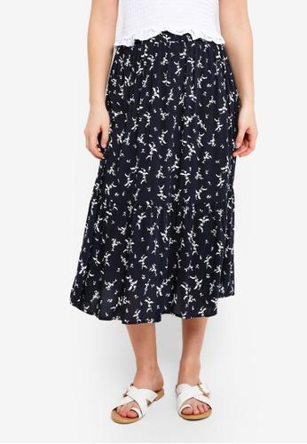 Cotton On blue Woven Cherry Midi Skirt B37FEAA46071FFGS_1