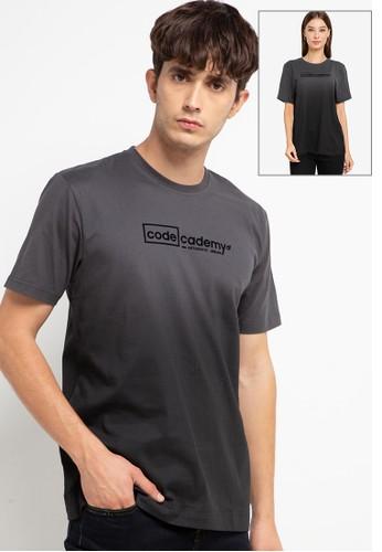 "D&F grey T-Shirt Sj ""Code Academy"" 89656AAD4C01F6GS_1"