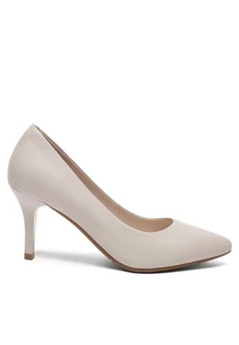 Twenty Eight Shoes 白色 7CM真皮製服工作高踭鞋2104-1 03FF3SH629F844GS_1