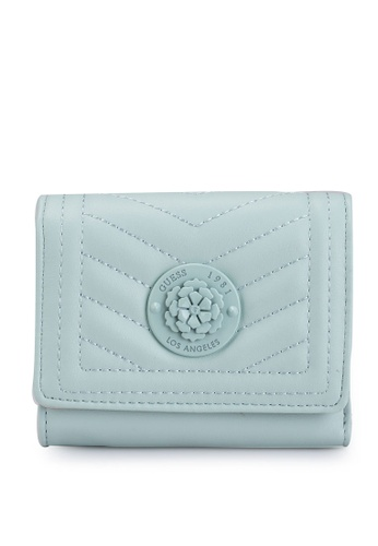 Guess green Lida Sling Small Trifold Wallet C10D6AC38C8D01GS_1
