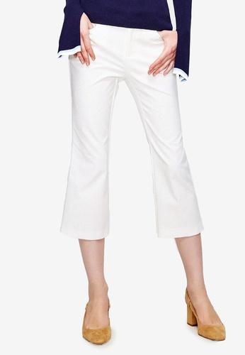 Hopeshow white Casual White Cropped Pants 8EBCFAAE3FF722GS_1