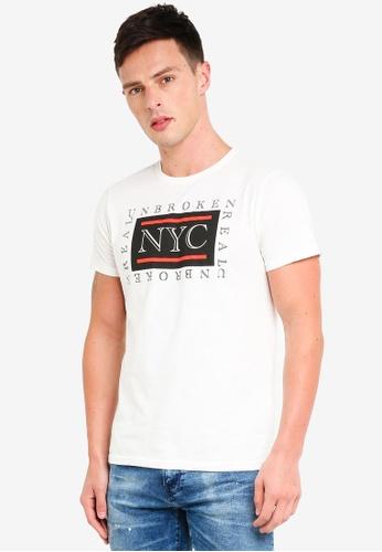 OVS 白色 棉 短袖T恤 AEE21AA59ED3DAGS_1