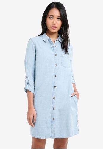 Jack Wills blue Maggie Denim Shirt Dress BA132AABC928A7GS_1