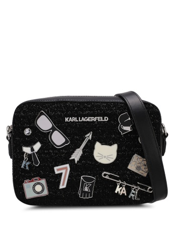 KARL LAGERFELD black k/klassik pins camera bag KA533AC0SDAPMY_1