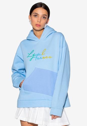 Local Heroes blue Runway Two-Pocket Hoodie 2AE46AA511B640GS_1