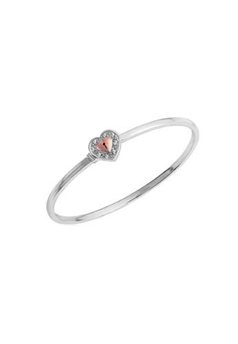 GOLDHEART GOLDHEART Love Lock Bangle, Diamond White Gold & Rose Gold 750 (B0892) 57928ACB1E501EGS_1