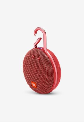JBL red JBL Clip 3 Portable Waterproof Bluetooth Speaker B070EAC86D01B7GS_1