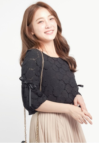 Tokichoi black Flower Lace Blouse E29AFAAAF9707AGS_1