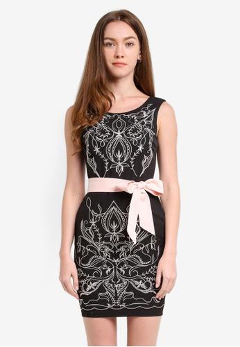 Megane black Carolina Embroidery Dress ME617AA0RR3RMY_1