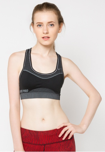 Nike black and grey Nike Pro Classic Hypercool Limitless Sports Bra NI126US72FYXSG_1