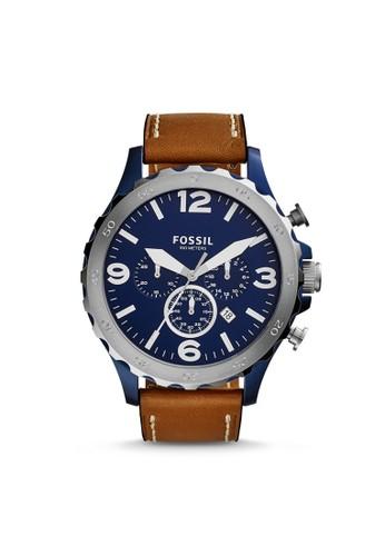 Fossil NATE時尚型男錶 esprit台灣網頁JR1504, 錶類, 時尚型