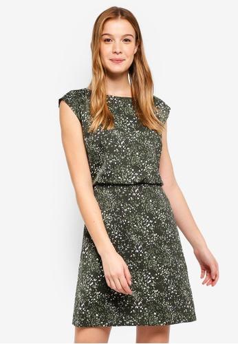 Banana Republic multi Sleeveless Drape Back Nikki Texture Print Dress B04E6AAE6B23B8GS_1