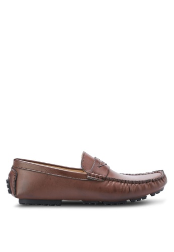 ZALORA brown Essential Faux Leather Moccassins 25C25SHD48D2D3GS_1