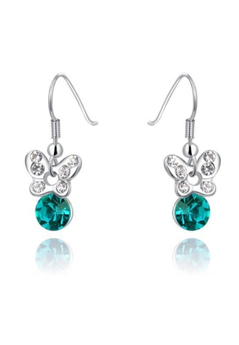 Kings Collection green Green Color Butterfly Silver earrings 1FF70AC534B880GS_1