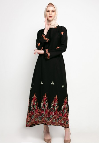 AZZAR black Zel Maxi Dress 4A8D5AAA2EE408GS_1