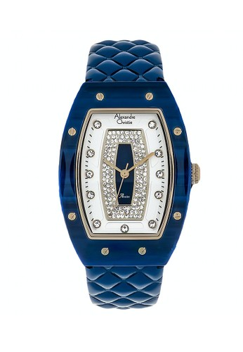 Alexandre Christie blue Alexandre Christie Jam Tangan Wanita - Blue Rosegold - Leather Strap - 2729 LHLGPSLBU 02EE4AC2EB045BGS_1
