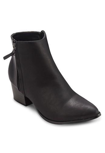 Emily 側拉鍊粗跟筒esprit 台中靴, 女鞋, 鞋