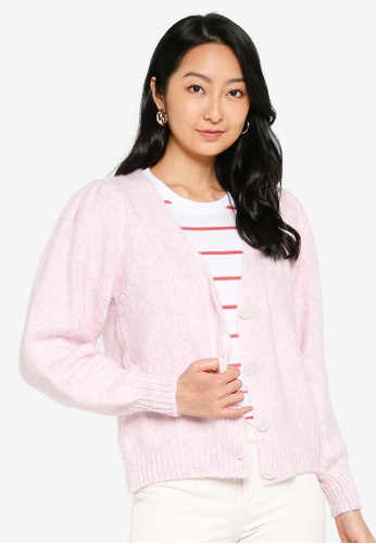 ONLY 粉紅色 and 紫色 ONLBENIN L/S V-NECK CARDIGAN KNT 8307EAACE703F6GS_1