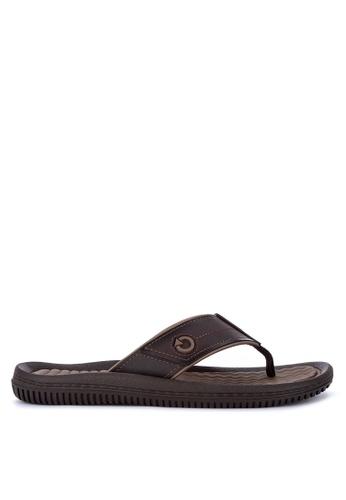Cartago brown Fiji IV Dedo Ad Flip Flops 6810BSH000D3D3GS_1