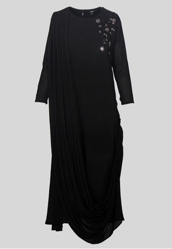 Le Reve black Le Reve Black Sequins Jubah 20C32AAC332A71GS_1