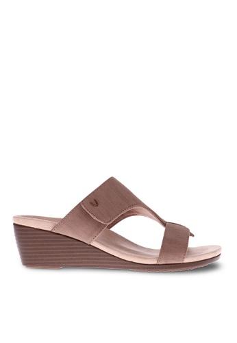 Vionic brown Regina Wedge Sandal 99005SHA0B1664GS_1