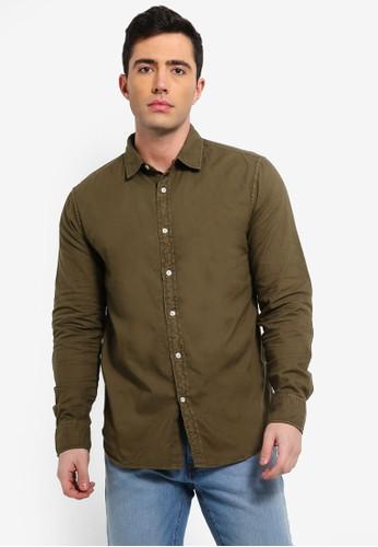 OVS green Mens Fashion Long Sleeve Shirt CA323AA62E107EGS_1