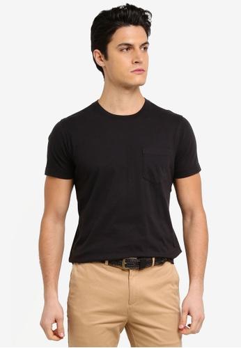 Brooks Brothers 黑色 素色休閒T恤 70B5CAA601EDE4GS_1