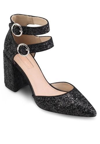 雙扣環閃飾尖頭高跟鞋, 女鞋esprit home 台灣, 鞋