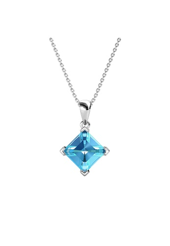 Her Jewellery blue Princess Square Pendant (Blue) - Made with Premium grade crystals from Austria 1591AAC0BA808FGS_1