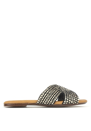 Betts black Ibiza Woven Slip On Sandals 981C8SHC0186E9GS_1