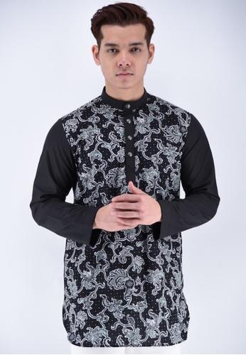 UA BOUTIQUE black Kurta Batik UAKLB06-012 (Black) E7448AA56B9D5EGS_1