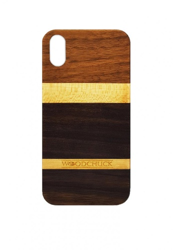 Woodchuck Manila multi Ebony Wooden Phone Case (iPhone X) C8244AC14CA089GS_1