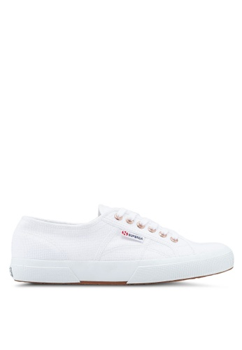 Superga white and gold Cotu Classic Sneakers 16337SH85A52B2GS_1