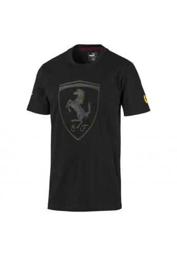 puma black Ferrari Big Shield Men's Tee BC8AFAA9253984GS_1