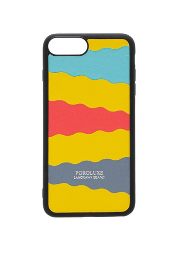POROLUXE yellow PHONE CASE FOR IPHONE 6+/7+/8+ 74FBAAC3799306GS_1