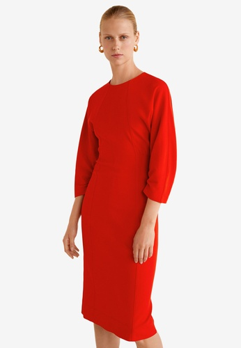 Mango red Midi Modal Dress 493D2AA49C720EGS_1