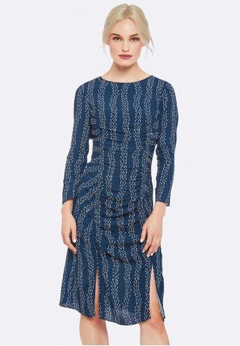Oxford blue Rosa Vine Print Dress B3F88AA04D30B7GS_1