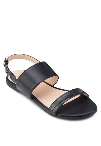 雙帶繞踝平底涼鞋、 女鞋、 鞋ZALORA雙帶繞踝平底涼鞋最新折價