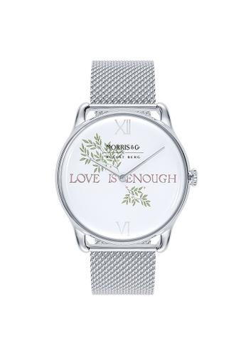 August Berg silver MORRIS & CO PURE Silver Love is Enough SS Mesh 38mm 33084ACC54F91DGS_1