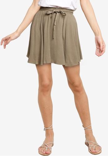 The Fated green Scarla Mini Skirt B639DAA1F0F600GS_1