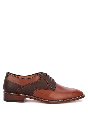 Bristol Shoes brown Brockton Two-tone Brown Derby 7D155SHBD9D0C4GS_1