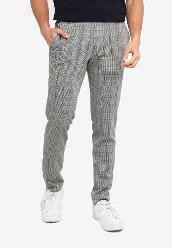 Only & Sons green Elias Check Pants E8B2AAAE120A9EGS_1