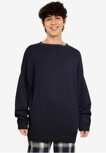niko and ... blue Knit Pullover B0770AA0F4C99EGS_1