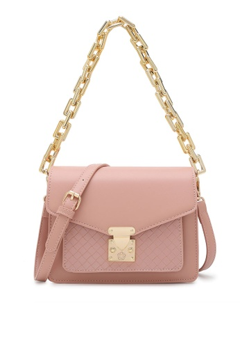 Wild Channel pink Chain Top Handle Bag BD5ADAC61246C6GS_1