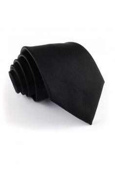 de24039d4247 Tieline black Standard Microfiber Solid Necktie TI886AC04UJZPH_1