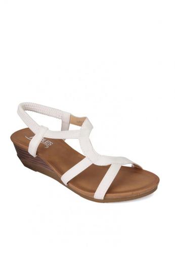 7soles white Bellatrix  Ladies Sandals 16BC7SH8A9EDA9GS_1