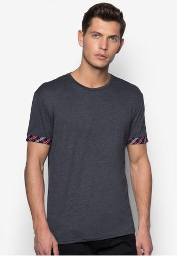 印esprit tw花袖口圓領T 恤, 服飾, T恤