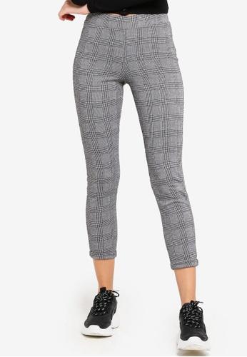 Factorie black and white Check Pants 1C389AA1DA0E94GS_1