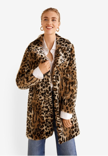 MANGO brown Leopard Faux-Fur Coat 9DF88AA17658F8GS_1