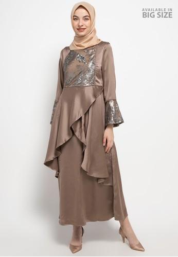 Cardinal brown Femme-Long Gamis 12B4FAA2496116GS_1